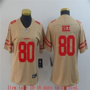 Women 49ers #80 Jerry Rice Jersey Inverted